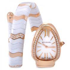 Bvlgari Serpenti Spiga One Twirl Bvlgari Gold, Bvlgari Serpenti, Bvlgari Watches, Armani Watches, Luxury Watches, Bulgari Jewelry, Swiss Army Watches, Rose Gold Watches, Fashion Watches
