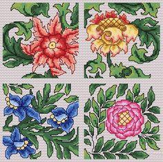 Maria Diaz Designs: Art Nouveau IIs (Cross-stitch chart)