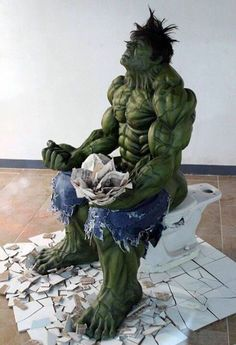 I feel like this every time I go to the bathroom #hulk #avengers #toilet #time #lol