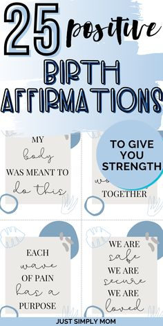 25 Positive Birth Affirmations to Give You Strength