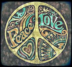 ☮ American Hippie Art ~ Peace Sign ..