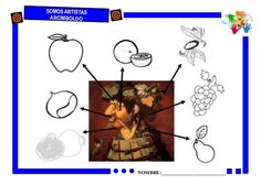 Arcimboldo. Fichas para infantil. Giuseppe Arcimboldo, Very Hungry Caterpillar, Autumn Art, Autumn Activities, School Projects, Art School, Arts And Crafts, About Me Blog, Education