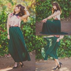 Dark Green Maxi Skirt