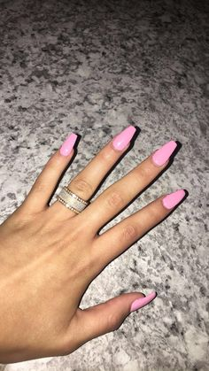 Babypink Coffin Acrylic Nails