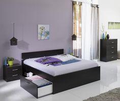 Schlafzimmer Linus III mit 140er Bett Die Auswahl der Farbe ist bei diesem Schlafzimmer - Programm reine Geschmackssache. Beide Farben, Kaffee oder Weiß, können sich problemlos jeder kreativen...