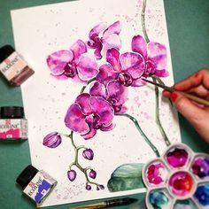 Watercolorist: @elena_risovayka  #waterblog #акварель #aquarelle #painting #drawing #art #artist #artwork #painting #illustration #watercolor #aquarela