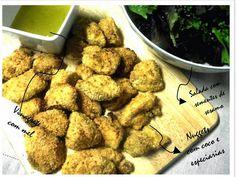 Ponto de Rebuçado Receitas: Nuggets com coco e especiarias e salada com vinagr...