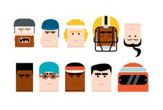US sports audiences by Carlos Monteiro, via Behance