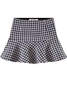 Sale 17% (8.39$) - Women Pattern Chiffon Ruffles Short Skirts Ladies Ball Gown Skirt