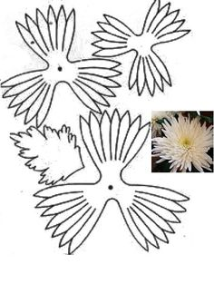 Handmade Flowers, Diy Flowers, Fabric Flowers, Paper Flower Patterns, Fabric Flower Tutorial, Wafer Paper Flowers, Tissue Paper Flowers, Flower Template, Leather Flowers
