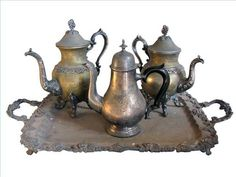 Whether your silver tea set is a family heirloom, or one you lucked into finding at a yard sale, it is bound to show some tarnish over time. Silver will tarnish when exposed to air. It will tarnish at a more rapid pace when exposed to damp or humid air. You can buy professional silver cleaners,...