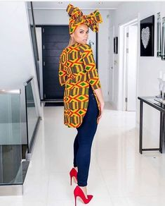 Super Stylish Ankara Tops for Gorgeous Ladies African Inspired Fashion, Latest African Fashion Dresses, African Print Fashion, Africa Fashion, African Print Pants, African Print Dresses, African Dress, African Clothes, African Prints