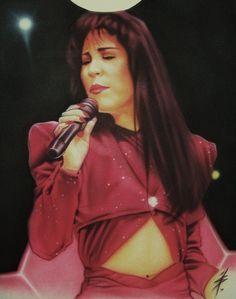 Serratos Custom Airbrush Art: Custom Airbrush Portraits - Tejano Mexican Singer, Selena Quintanilla