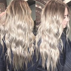 To. Die. For.  We did this melt in the Summer and all we've done is maintain it with toner and trims twice since. Low mainenance & high contrast blonde = My fav. I wish I could've gotten a picture of this in natural lighting...I've said it before and I'll say it again; damn you, Winter! ❄️(And yes, this is ALL her real hair!) ________________________________ #rootmelt #colormelt #blonde #silverblonde #kevinmurphy #olaplex #schwarzkopf #redkenshadeseq #rootyblonde #beachblonde #blondebabe…
