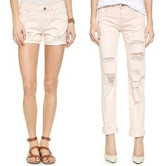 Rank & Style - Blank Denim Distressed Cuffed Shorts and Straight Leg Jeans in Ditz #rankandstyle