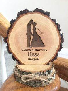 Hey, I found this really awesome Etsy listing at https://www.etsy.com/listing/265304377/rustic-wedding-cake-topper-bride-and