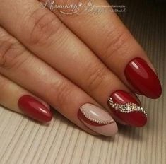 18 trendy nails glitter diamonds manicures in 2020 (With images) Nail Art Designs, Long Nail Designs, Nail Art Noel, Red Nail Art, Ongles Bling Bling, Bling Nails, Red Acrylic Nails, Red Nails, Corset Nails