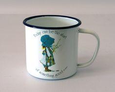 Vintage Holly Hobbie Enamelware Mug