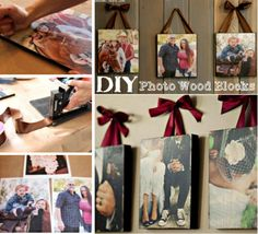 DIY Photo Wood Blocks with Mod Podge