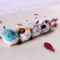 cute kawaii fat ceramic maneki neko home decor crafts room decoration porcelain animal figurine lucky cat handicraft ornament Maneki Neko, Polymer Clay Cat, Polymer Clay Charms, Handmade Polymer Clay, Fun Crafts, Crafts For Kids, Arts And Crafts, Decor Crafts, Mason Jar Crafts
