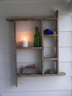 Country Wood Shelf Salvaged Weathered Primitive Rustic Decor Wooden Shelf