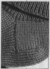 Machine Knit Socks with Handknitted-Like Heel