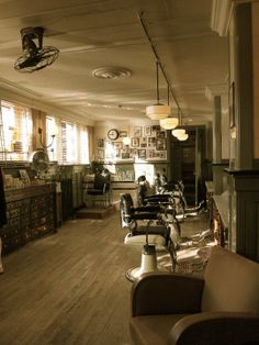 Classic old barber chairs NYC