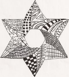 Zentangle Star of David