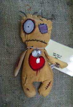 Voodoo doll *Juju doll * art doll * zombie * rag doll * creepy * horror * OOAK * Handmade * TWD * valentine by WonkyWaresBude on Etsy https://www.etsy.com/listing/263849457/voodoo-doll-juju-doll-art-doll-zombie