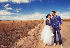 Taiwan singer Vivian Hsu has posed in a series of romantic bridal shots with Singapore-based businessman Sean Lee, ahead of their Bali weddi. Wedding Dresses Photos, Wedding Pics, Wedding Shoot, Wedding Bride, Crazy Wedding, Wedding Ideas, Bridal Shoot, Bride Groom, Denim Wedding