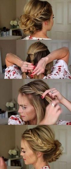 24 Beautiful Bridesmaid Hairstyles For Any Wedding - Lace Braid Homecoming Updo Missy Sue - Beautiful Step by Step Tutorials and Ideas for Weddings. Awesome Pretty How To Guide and Bridesmaids Hair Styles. These are Easy and Simple Looks for Short hair Long Hair and Medium Length Hair - Cool Ideas for Hair at Parties Special Events and Prom #weddinghairstyles