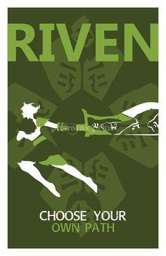 Riven: League of Legends Print. $14.00 via Etsy.