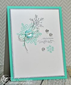 Aqua Wishes from Joyful Creations with Kim using stamps from Stampin' Up.