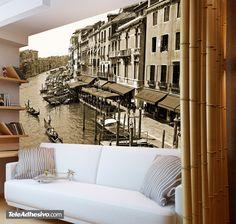 Fotomural Venecia. Ideas decoración academia de italiano #decoración #academia #italiano #ideas #vinilo #TeleAdhesivo