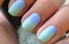 Diseños de uñas con esponja impregnada, diseño uñas con esponja bicolor.   #diseñatusuñas #instanails #uñasbonitas