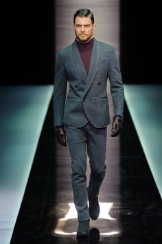 Giorgio Armani Men's A/W '13.  Classic yet modern at the same time.