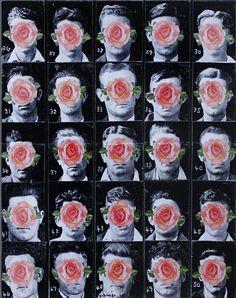 Rose Parade, 2014, Mixed media collage on wood panel. ©2014 Mark Nobriga marknobriga.com All rights reserved.