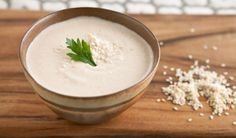 High Protein Tahini Dip  1. ½ cup fat-free plain Greek yogurt  2. ¼ cup tahini  3. 3 tablespoons rice vinegar  4. 2 tablespoons water  5. 1 tablespoon sodium – reduced soy sauce  6. ½ tsp salt  7. 1 tablespoon sriracha hot chili paste  8. 1 tablespoon lemon juice  9. 2 tablespoons chopped cilantro  10. 1 large minced garlic clove  11. ½ tsp ground cumin  12. Top with toasted sesame seeds as garnish (optional)