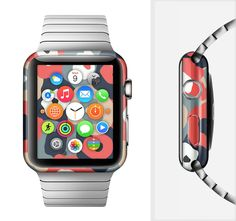 The Bulky Colorful Flowers Full-Body Skin Set for the Apple Watch