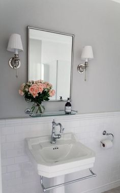 Tvättställ Burlington viktoriansk 56 cm - Sekelskifte - Lilly is Love Burlington Bathroom, Interior Styling, Interior Decorating, Relaxing Bathroom, Sweet Home, Victorian, Shower, Mirror, Furniture