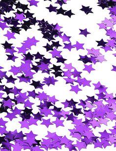 Sternen-Konfetti - metallic violett