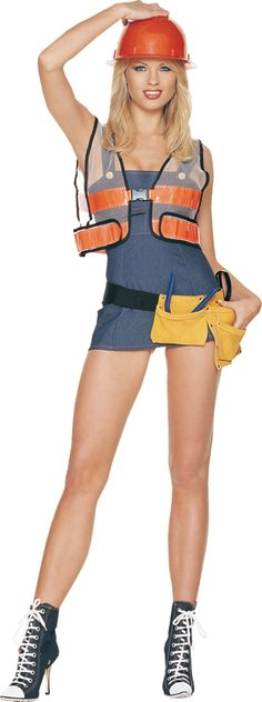 Final, sorry, Adult construction worker costume