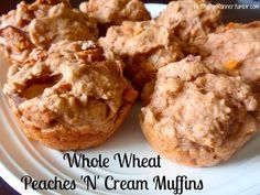 Whole Wheat Peaches n Cream muffins. [uses chobani peach greek yogurt]