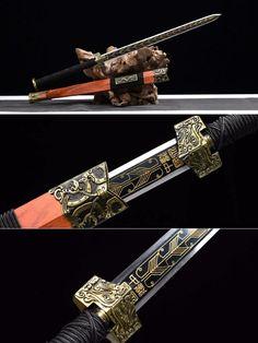 chinese sword,han jian,war sword,cold sword Ninja Weapons, Anime Weapons, Weapons Guns, Fantasy Sword, Fantasy Armor, Fantasy Weapons, Katana Swords, Samurai Swords, Swords And Daggers