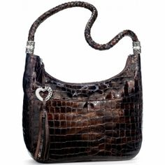 Barbados Ziptop Hobo  available at Brighton ~~ would love to own in the Platinum!!