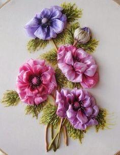 Bordado con cintas II / Ribbon embroidery II