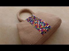 How To #Crochet Easy Handbag Purse with Nylon Thread #TUTORIAL #323 - YouTube