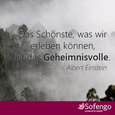 Das Schönste, was wir erleben können, ist das Geheimnisvolle.-Albert Einstein