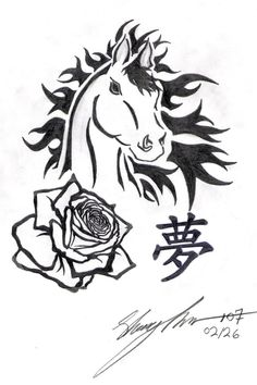 Horse, My Rose Dream by Naitachal666 on deviantART -  #tribal #tattoo #design
