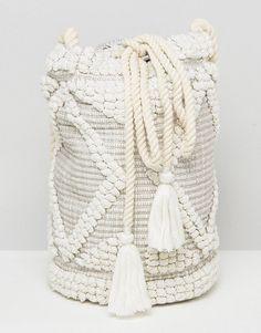2db1ef2d9e489 South Beach Drawstring Shoulder Bag In Natural